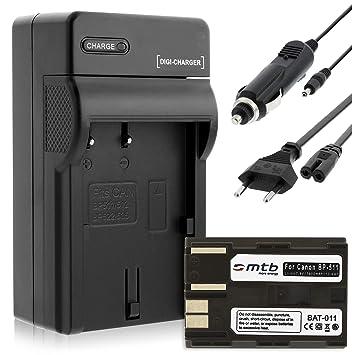 Batería + Cargador (Coche/Corriente) para Canon BP-511 / EOS 5D, 10D, 50D... / Powershot G1, G2, G6 ... / Optura... ver lista!