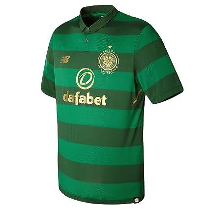 Camiseta New Balance Celtic FC Segunda Equipación 2017-2018 Green   Amazon.es  Deportes y aire libre f991bc7007199