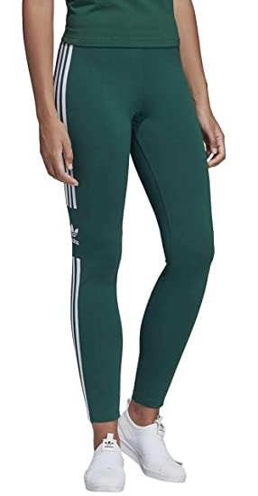 18b1654f029087 adidas Trefoil Tight Woman's Green Leggings DV2643 2 UK: Amazon.co ...