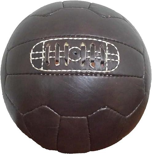 Vintage 1966 Soccer Ball - Dark Brown