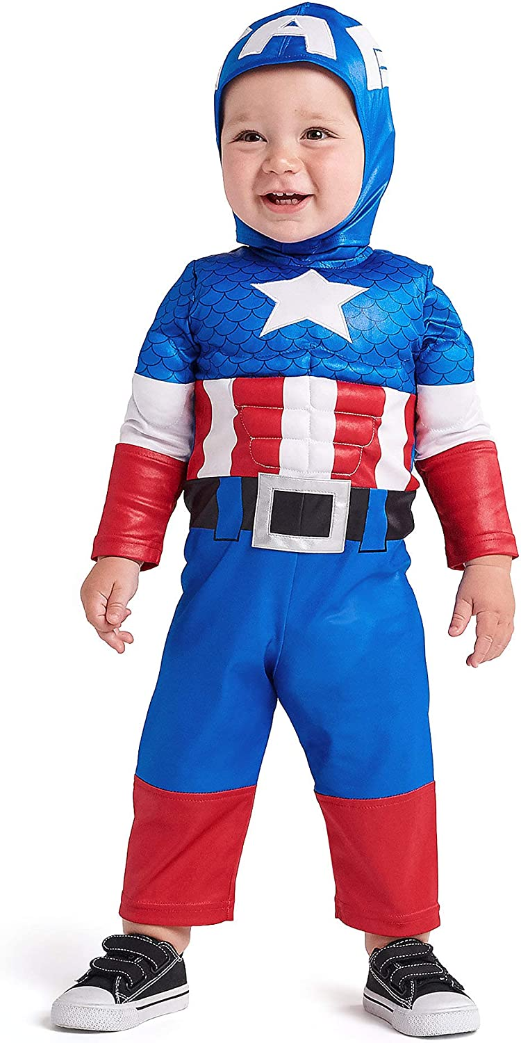 Amazon Com Marvel Captain America Costume For Baby Multi Clothing Captain marvel is a believer in truth and justice but also fights between the aggressiveness and quick tempered character that is within her. marvel captain america costume for baby multi