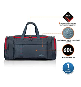 PAZZO Storm Front Large 60 litres   66 inch Travel Duffel Bag (Grey ... 0219a5e0028