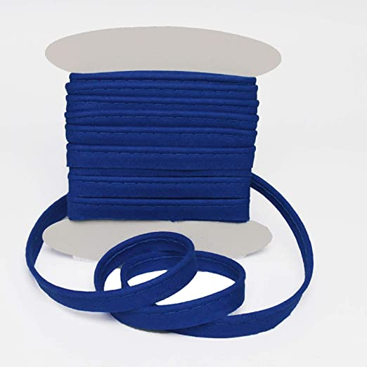Pipping Flanged 10 mm insert piping cord Cotton bias Blue// Sold by 5meters