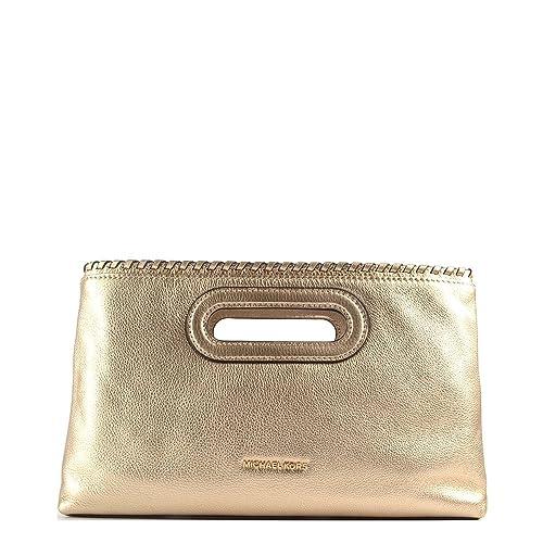 Michael Kors - Cartera de mano de Piel para mujer Dorado dorado , color Dorado, talla: Amazon.es: Zapatos y complementos