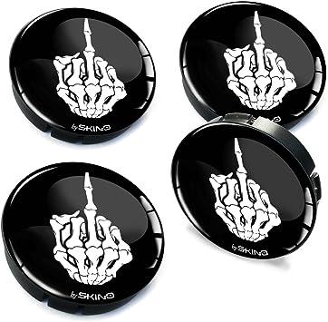 SkinoEu/® 4 x 60mm 3D Gel Car Wheel Centre Universal Rims Hub Center Caps Vehicle Auto Tuning Emblem Punisher Skull C 79