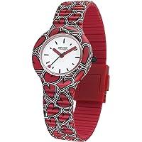 Hip Hop Watches - Orologio da Donna Hip Hop Red HWU0932 - Collezione (He) Art - Cinturino in Silicone - Cassa 32mm - Impermeabile - Rosso