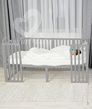 Matratze Gelernt Comfortbaby® Babybett Smartgrow 7in1 Holzfarbe Weiss Bettset