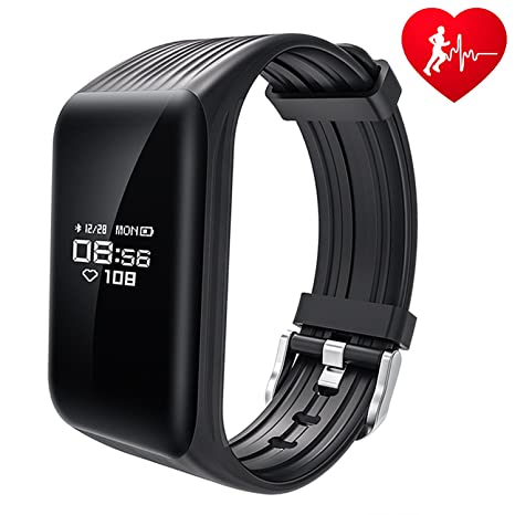 HALKG LEI Fitness Tracker Watch IP68 Waterproof Activity Wireless Smart Bracelet with Continuous Heart Rate Monitor