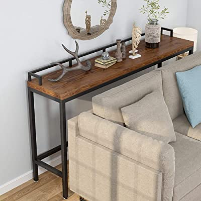 Buy Tribesigns 70 9 Inch Extra Long Solid Wood Console Table Behind Sofa Couch Industrial Narrow Entryway Skinny For Living Room Hallway Small Space Online In Indonesia B0837qlkh5