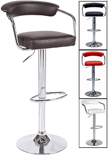 Amazoncom Emerald Swivel Leather Adjustable Hydraulic Bar Stool