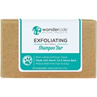 Natural Neem Oil Shampoo for Dogs & Cats | Easy-to-Use Exfoliating Bar | Paraben, Sulfate & Phthalate-Free | 4.3oz Eco-Friendly Bar with No Plastic Waste