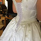 6fc0ae9466 Laceeis Wedding Dress Zipper Replacement Adjustable Fit Corset Back Kit  Lace-Up White 16 Perfect Fit Patterns ...