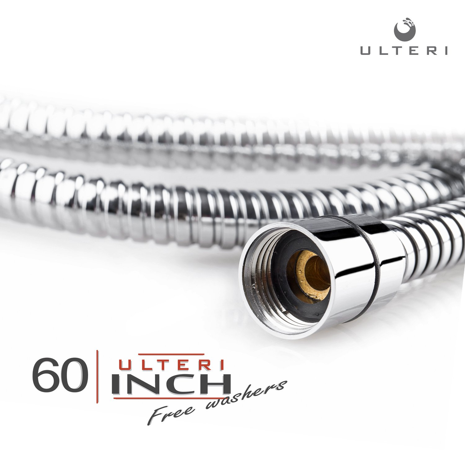 Shower Hose 60 inch (5 Ft.) for Hand Held Showerhead by Ulteri