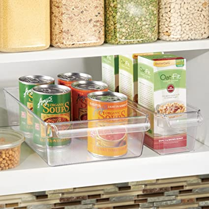 amazoncom interdesign linus pullz kitchen pantry storage organizer u2013 food container drawer clear small home u0026 kitchen
