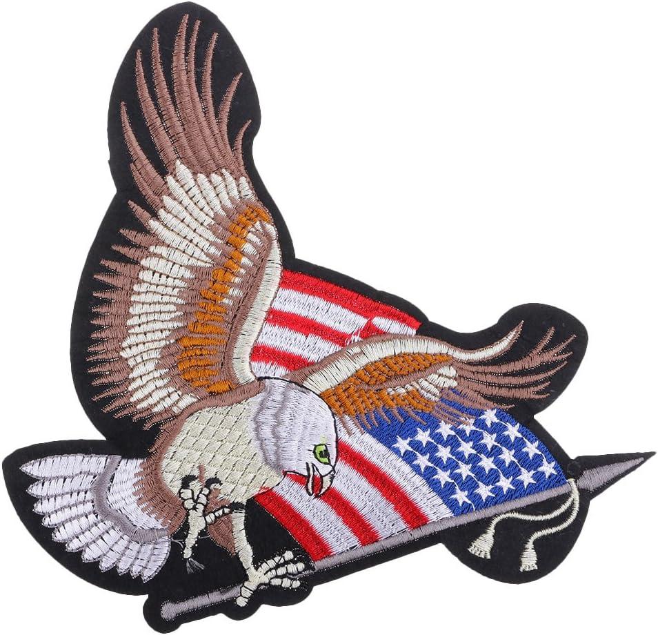 Hellery Bandera Americana Parche De águila Bordada Cosa En Apliques Costura Insignia DIY Craft: Amazon.es: Hogar