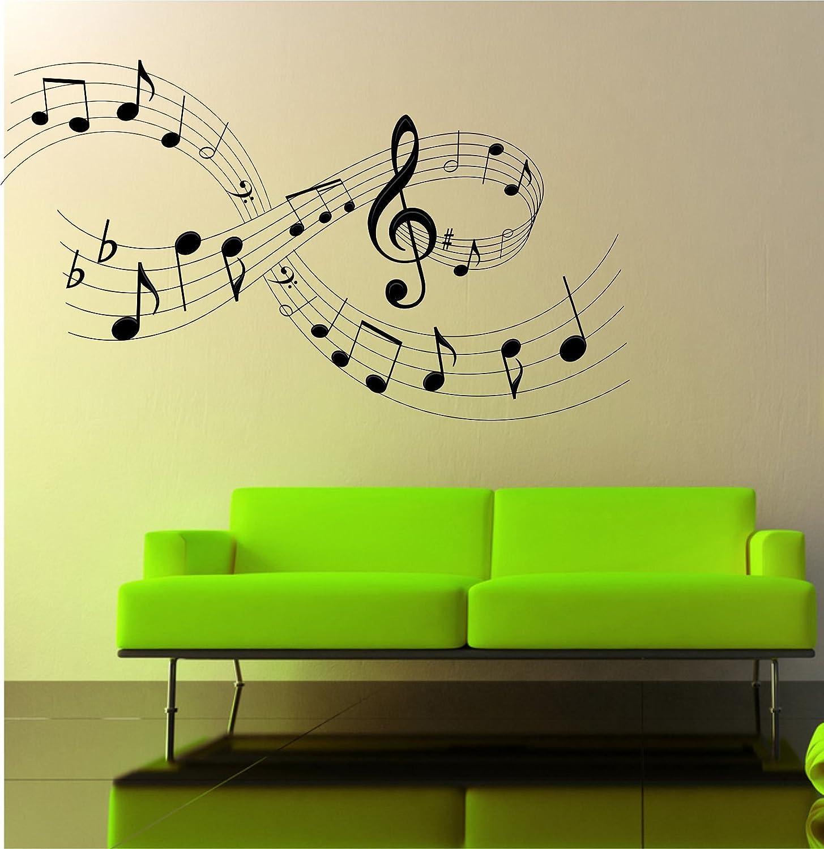 Adhesivo decorativo para pared de notas musicales 97 cm (W) x 56 ...