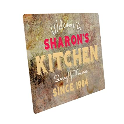 Personalised Kitchen Door Plaque Room Sign New Home Gift Idea Mothers Day Gift Cook Presents