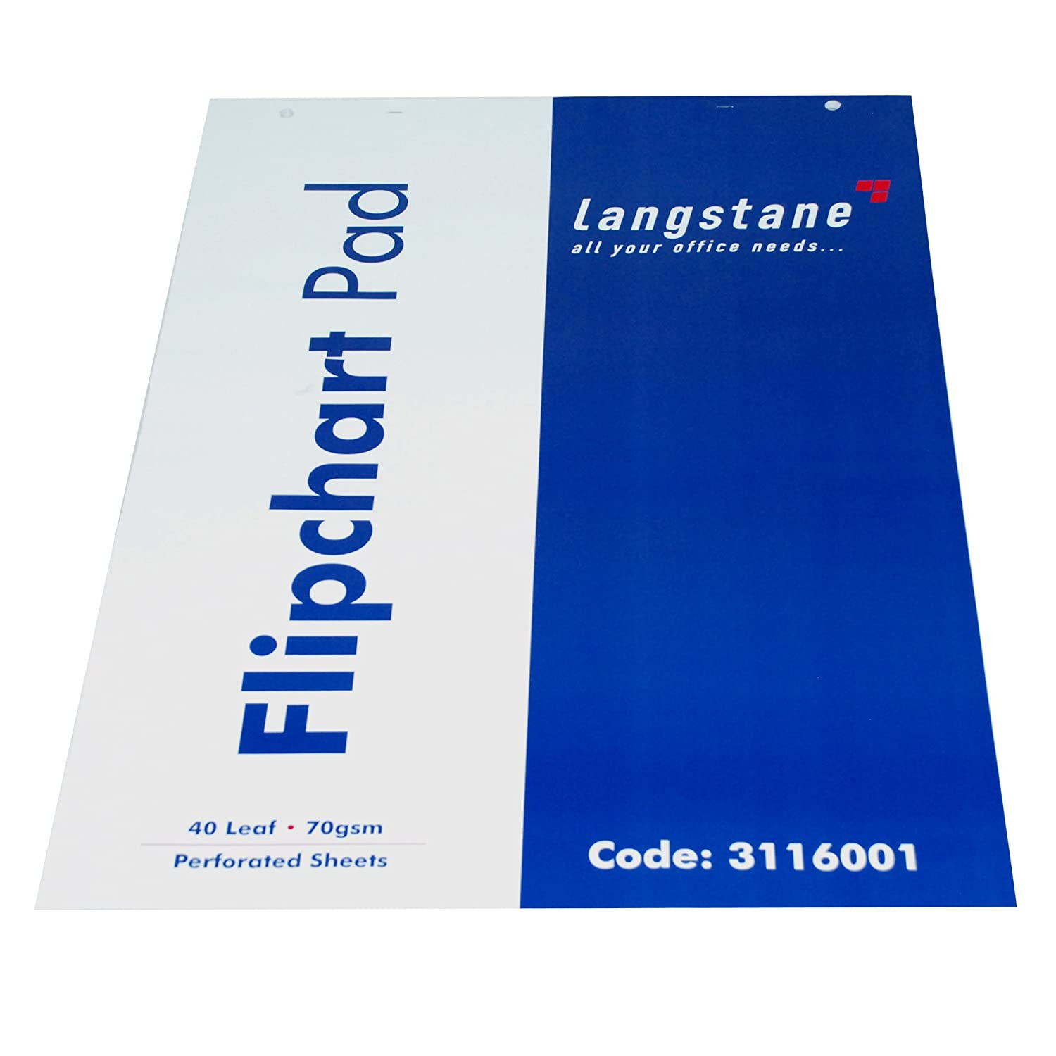 Langstane A1 Flipchart Pad 40 Leaf 70GSM Perforated Sheets 20mm Grid Layout (Pack of 5) Langstane®