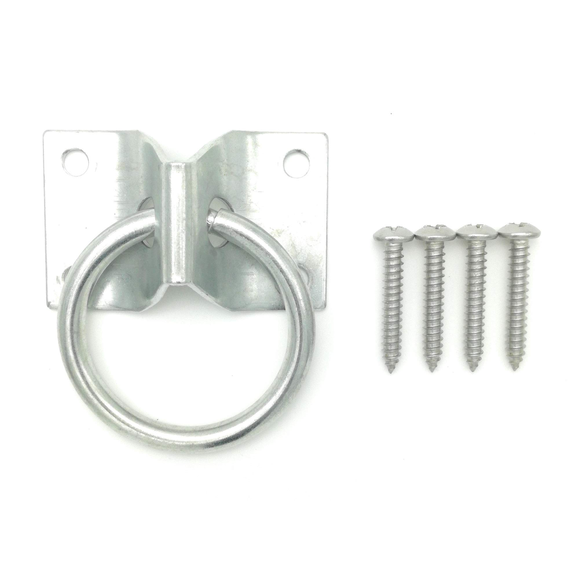 Will's Family Store 2 inch Wall Mount Tie Ring Through Plate Zinc Plated by Will's Family Store