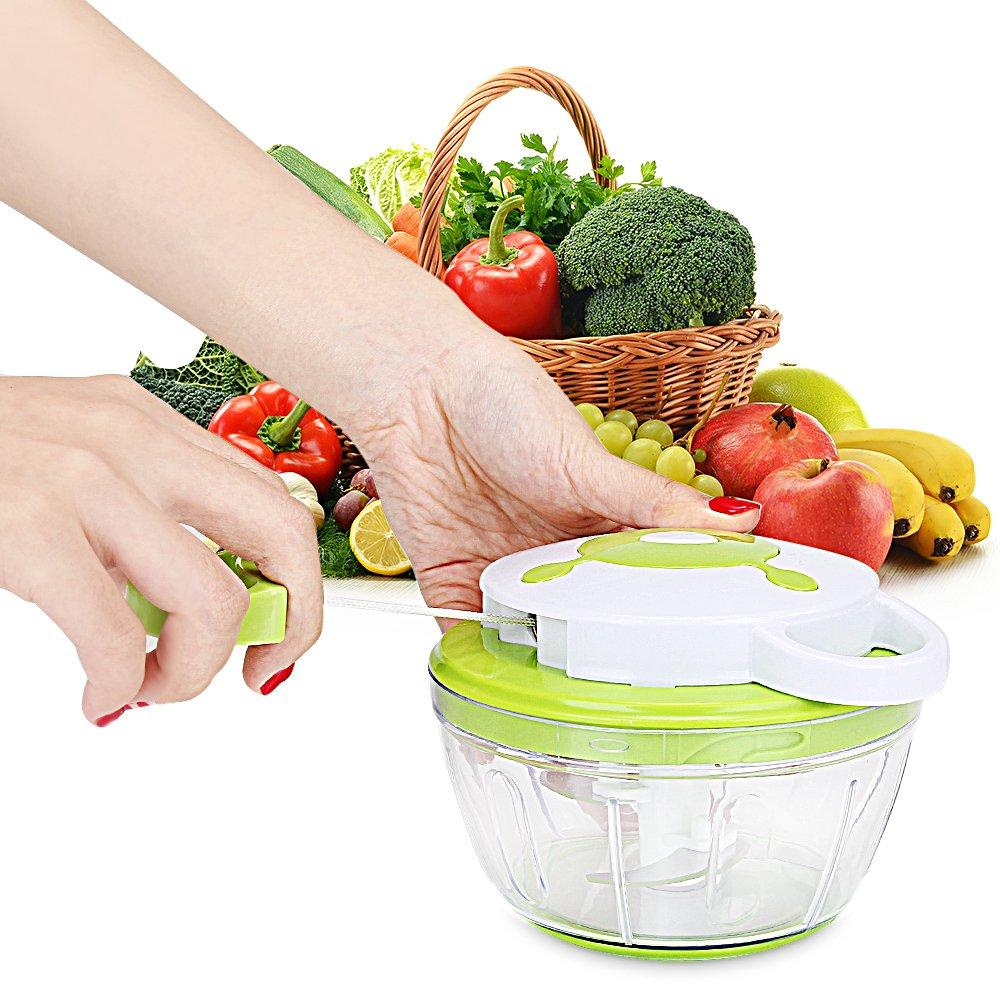 Cortador verduras Picadora de carne Picadora de verduras Manual de ml Cuchillas