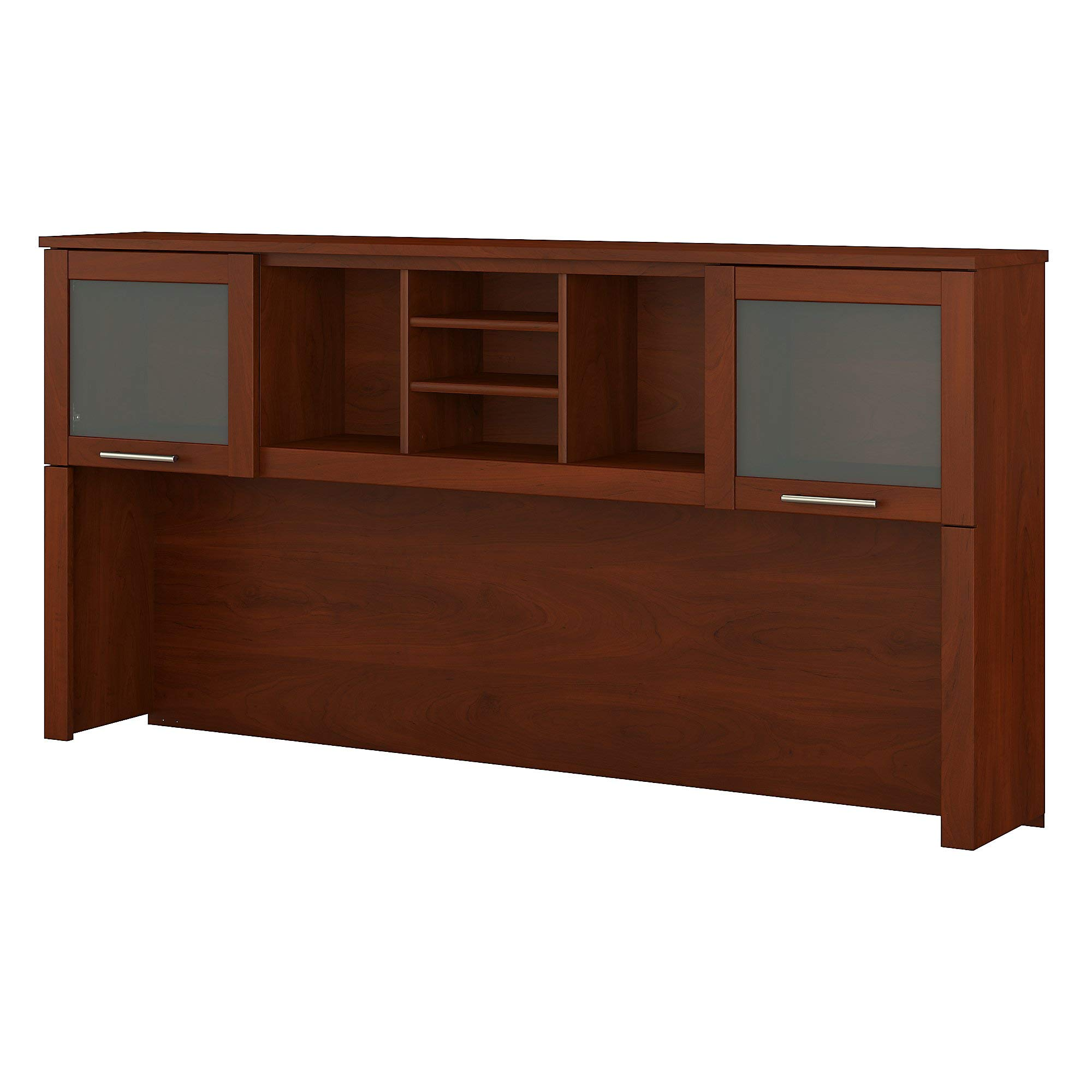 Bush Furniture Somerset 72W Hutch for L Shaped Desk in Hansen Cherry by Bush Furniture