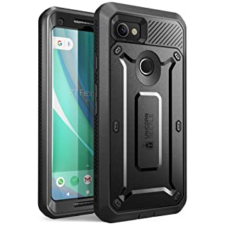 SUPCASE Unicorn Beetle PRO Series Designed for Google Pixel 2 XL Case,Full-Body Rugged Holster Case with Built-in Screen Protector for Google Pixel 2 XL 2017 Release (Black)