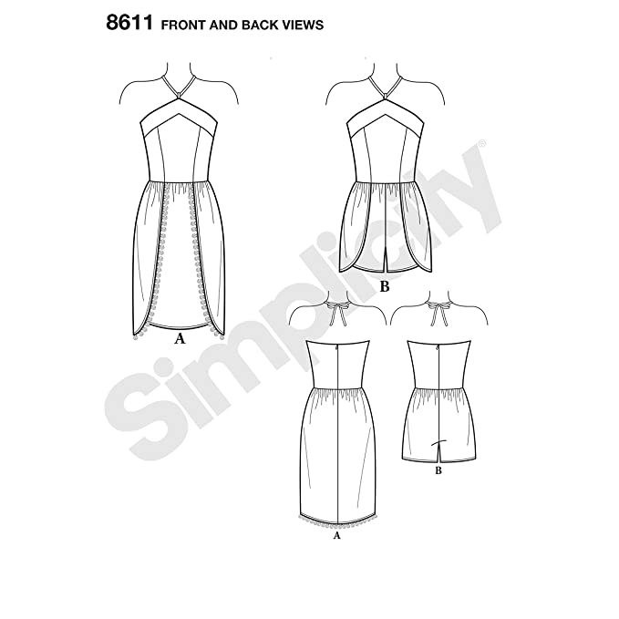 Amazon.com: Simplicity Sewing Pattern D0889 / 8611 - Misses and Petites Dress and Romper by Mimi G Style, U5 (16-18-20-22-24): Arts, Crafts & Sewing