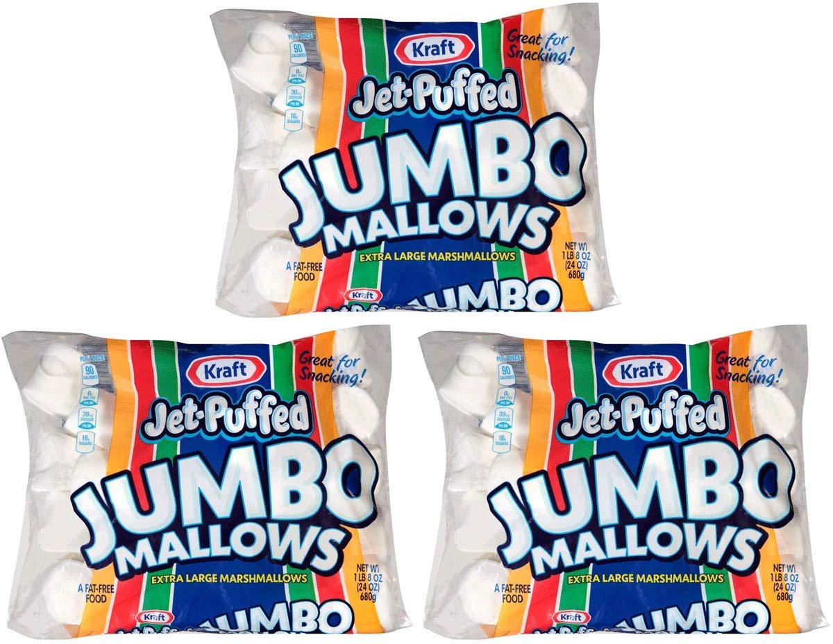 Jet-Puffed FRCDLJHV Jumbo Marshmallows, 3 Packs of 8 (24 Ounce/Bag) by Jet-Puffed (Image #1)