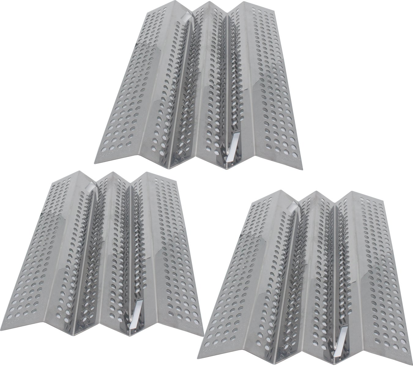 Grilling Corner 15 7/16 x 10 5/8'' Stainless Vaporizing Panels (3-Pack) for American Outdoor Grill 24NB, 24NG, 24NP, 24PC, 36NB, 36PC