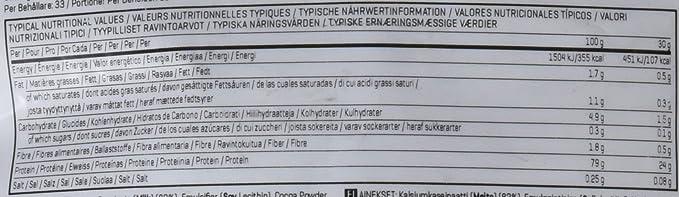 MyProtein Caseinate Calcio, Sabor Chocolate Suave - 1000 gr ...