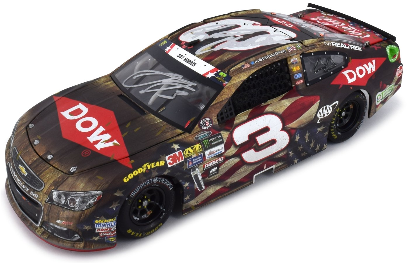 Lionel Racing Dual Autographed Austin Dillon/Richard Childress 2017 Coca Cola 600 First Cup Series Win Raced Version NASCAR Diecast 1:24 Scale