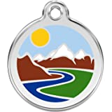 Red Dingo Personalized Mountain Pet ID Dog Tag