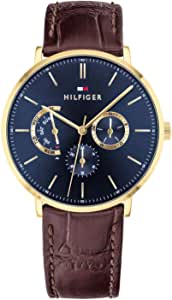 Tommy Hilfiger Reloj Multiesfera para Hombre de Cuarzo con Correa en Cuero 1710376