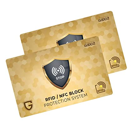 Protección RFID / NFC para tarjetas de crédito, billetera hombre y mujer: Protección RFID Blocking para tarjetas de crédito, tarjetas de débito y ...