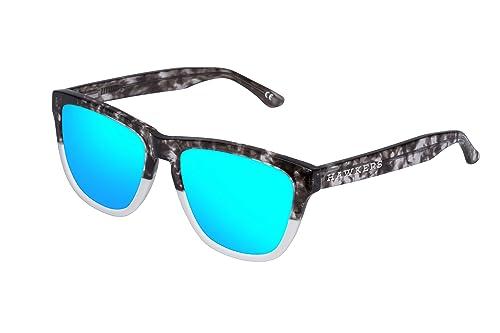 Hawkers Bicolor Grey Tortoise Clear Blue One X - Occhiali da sole unisex