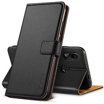 Hianjoo Compatible para Funda Xiaomi Redmi Note 7 / Redmi Note 7 Pro, Carcasa Redmi Note 7 de Cuero Suave de la PU Protector de Silicona para Redmi ...