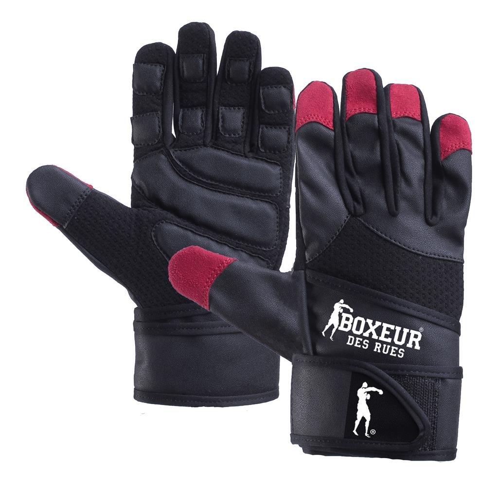 BOXEUR DES RUES Serie Fight Activewear, Guanti da Fitness e Allenamento con Pesi Unisex Adulto BXT-5214