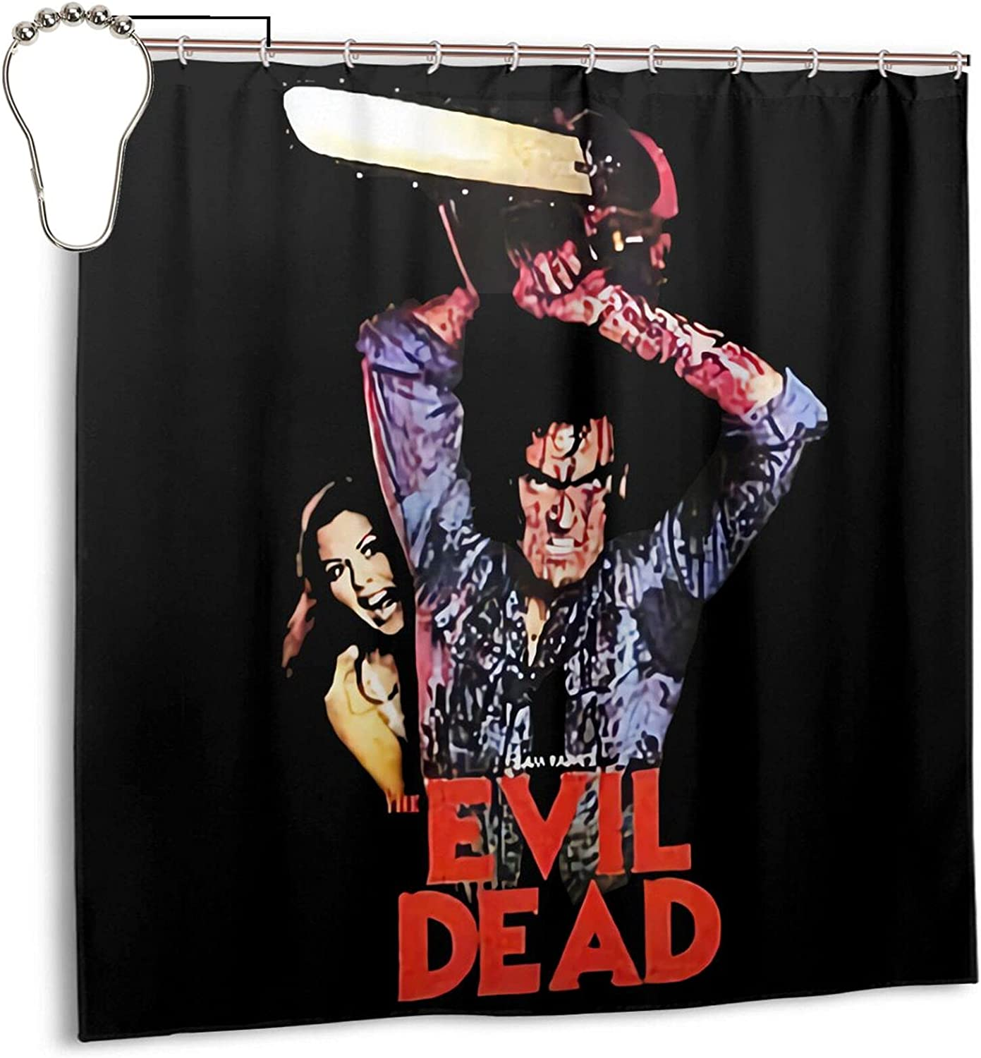 Atsushi Evil Dead Shower Curtains Bathroom Decor Waterproof Polyester Fabric Bath Curtain 72 X 72 in with 12 Plastic Hooks