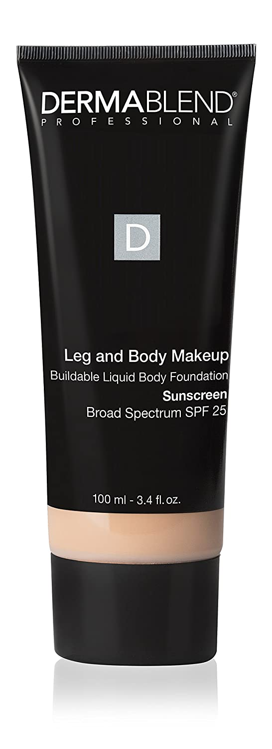 Dermablend Leg and Body Makeup, with SPF 25. Skin Perfecting Body Foundation for Flawless Legs with a Smooth, Even Tone Finish, 3.4 Fl. Oz