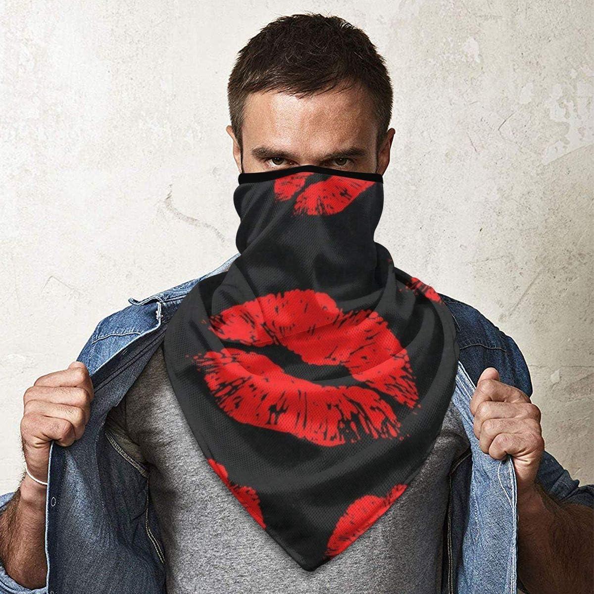 Neck Warmer Sports Anti Dust UV Masks for Women Men Ernest Congreve Red Elephant Animal Mandala Face Mask Neck Gaiter