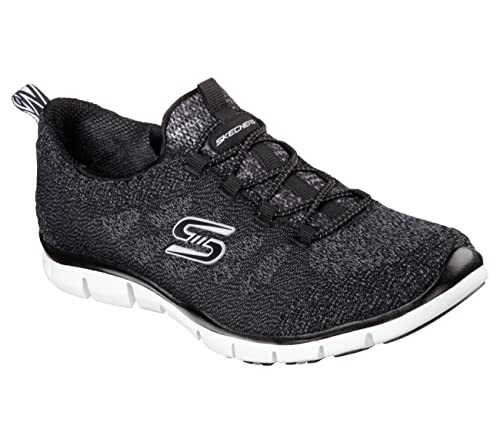 Zapatillas sin cordones para mujer Sleek and Chic, negras / blancas 11 W: Amazon.es: Zapatos y complementos