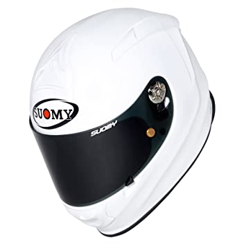 SUOMY SR Sport - Casco para Moto Integral, Blanco (Plain White), XL