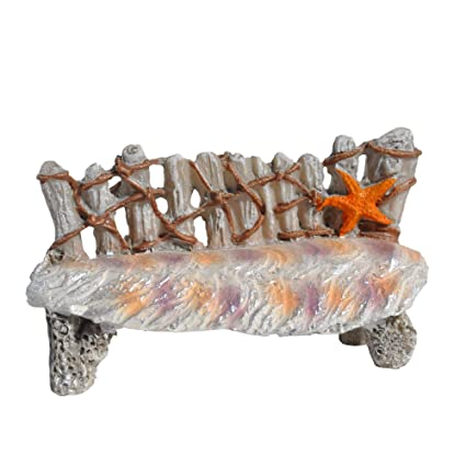 Incredible Amazon Com Miniature Fairy Garden Mermaids Bench Home Gmtry Best Dining Table And Chair Ideas Images Gmtryco