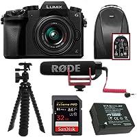 Panasonic LUMIX G7 Mirrorless Digital Camera with 14-42mm f/3.5-5.6 Lens & Rode On- Camera Microphone Accessory Bundle
