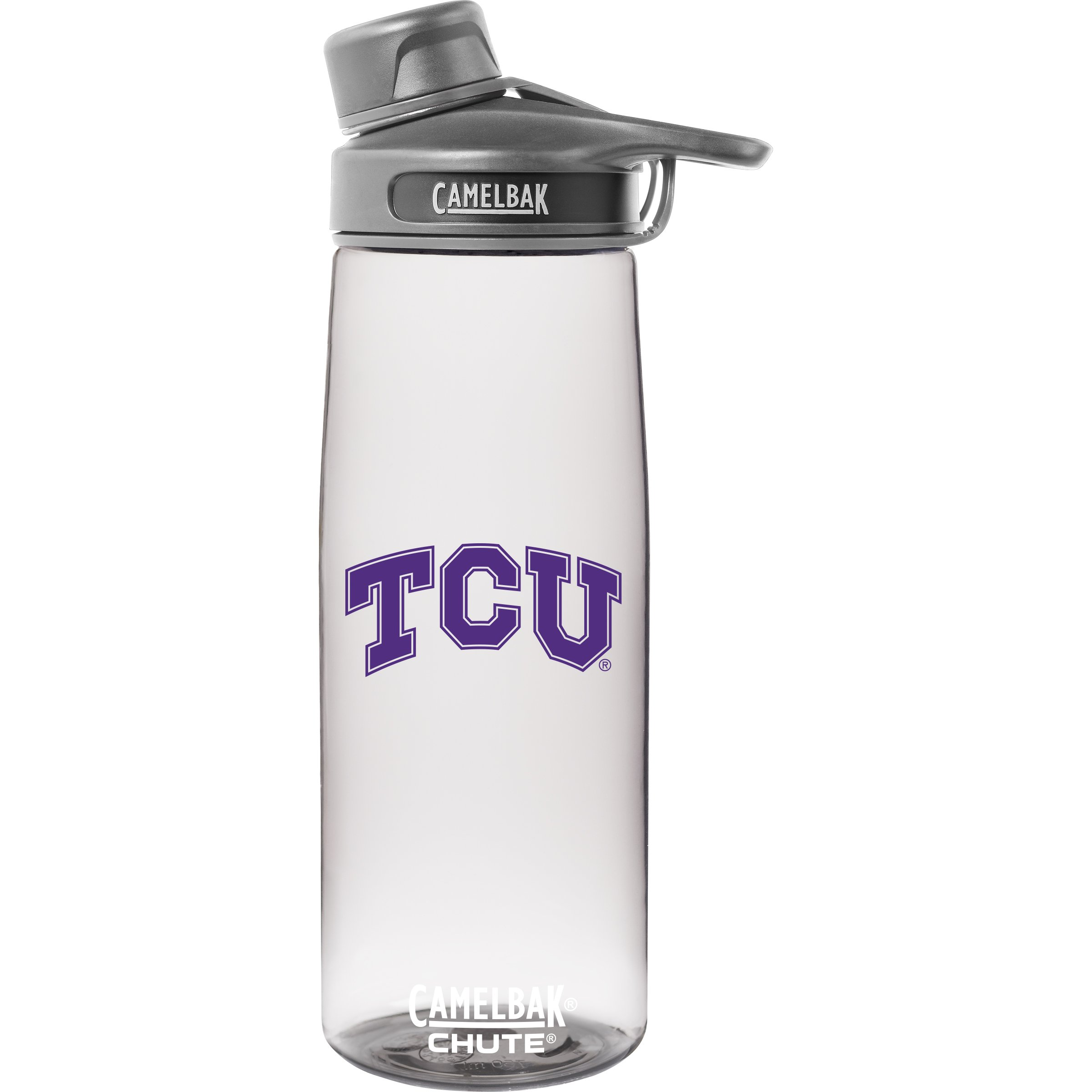 NCAA TCU Horned Frogs Unisex Chute .75L Collegiate Water Bottlecamelbak Chute .75L Collegiate Water Bottle, Clear.75 Liter