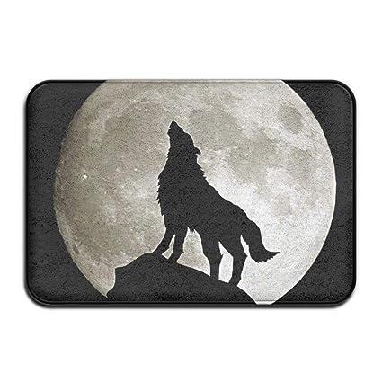 Amazon.com: Wolf Howling at the Moon - Body unisex de manga ...