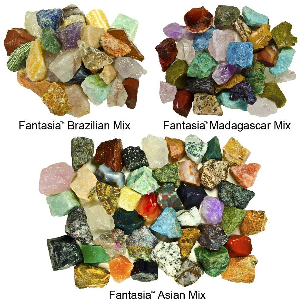Toys & Hobbies Loose Gemstones Premium Rock And Gem Tumble Rough Mix For Rock Tumbler Non-Ironing