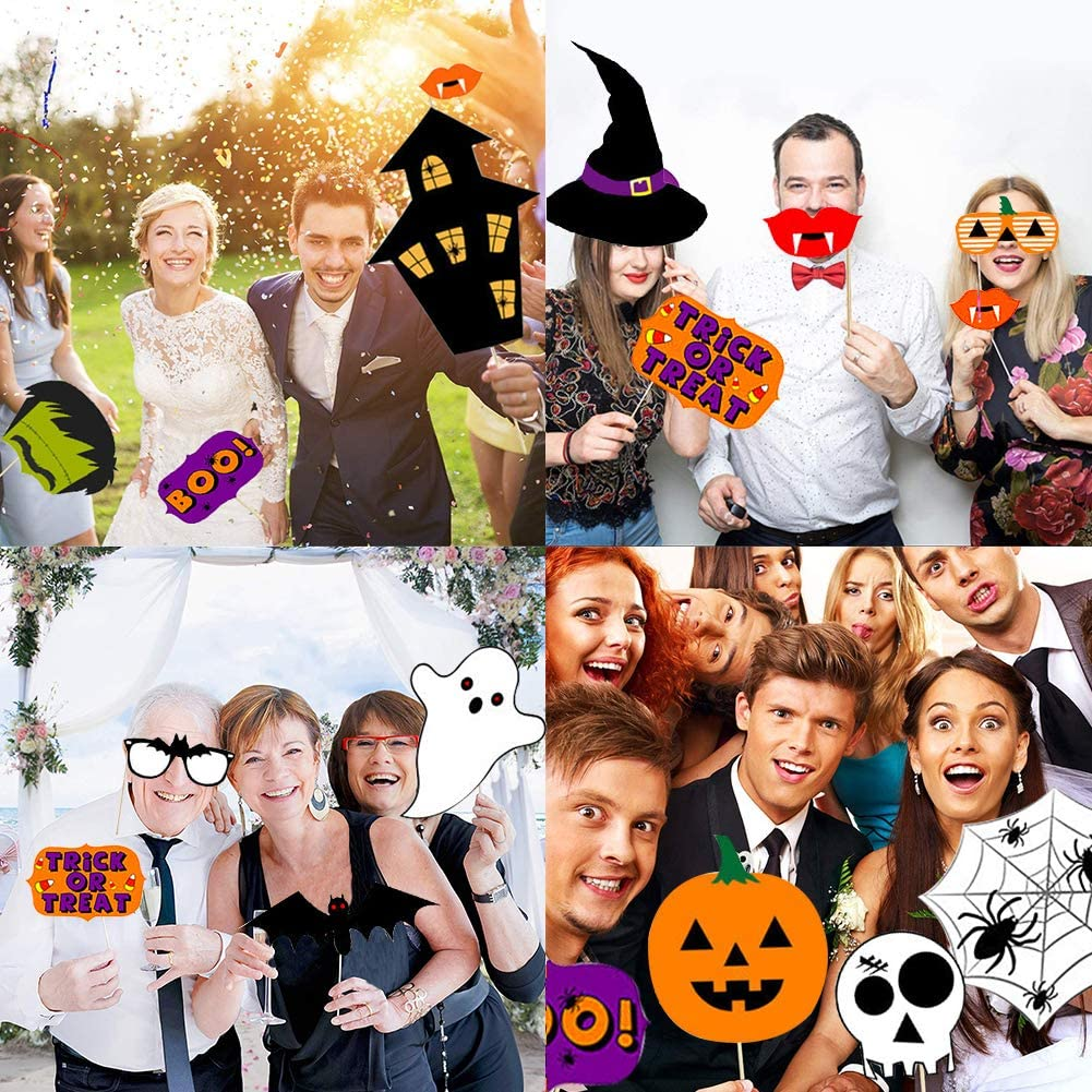 BESTZY Fotorequisiten 22 Halloween Foto Requisiten Foto Accessoires f/ür Seine Oder Ihre Geburtstagsfeier Fotoaccessoires Dress-up Zubeh/ör /& Party Favors