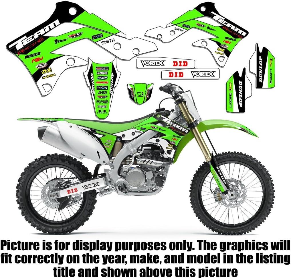 Team Racing Graphics kit compatible with Kawasaki 2014-2020 KX 85//100 EVOLV