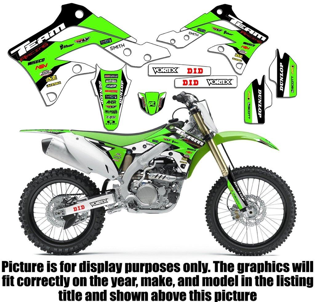 Team Racing Graphics kit for 1994-1997 Kawasaki KX 80, EVOLV